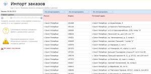 Импорт заказов из Excel строки шапки